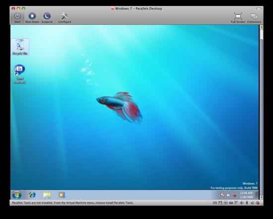 Windows 7 no Parallels Desktop