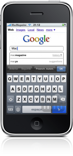 Search History no iPhone