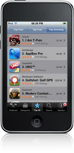 Top Grossing no iPod touch