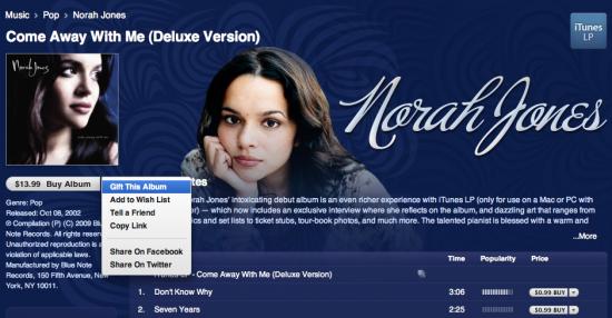 Integração iTunes 9 Facebook Twitter