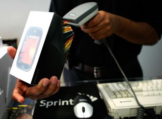 Palm Pre sendo vendido em loja da Sprint