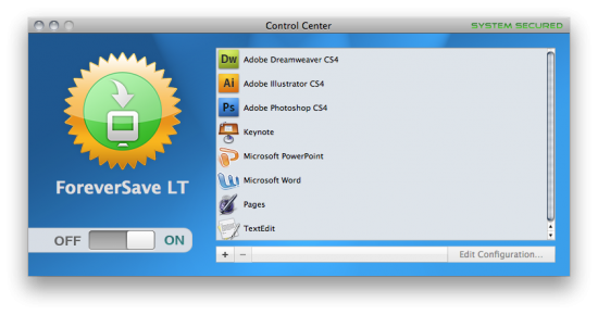 ForeverSave LT no Mac OS X