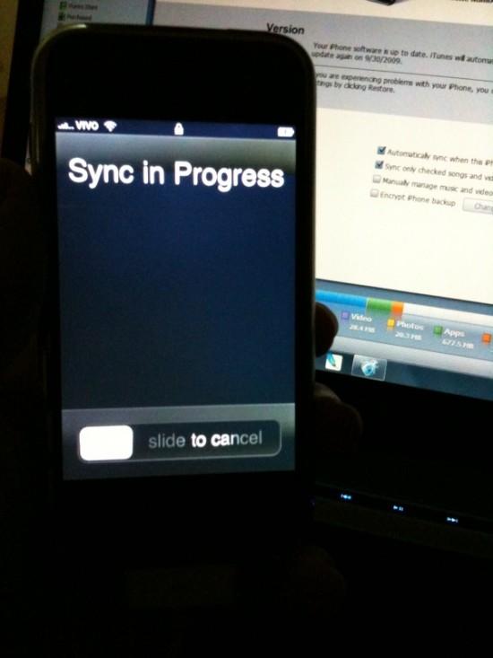 iPhone FAIL bateria sync