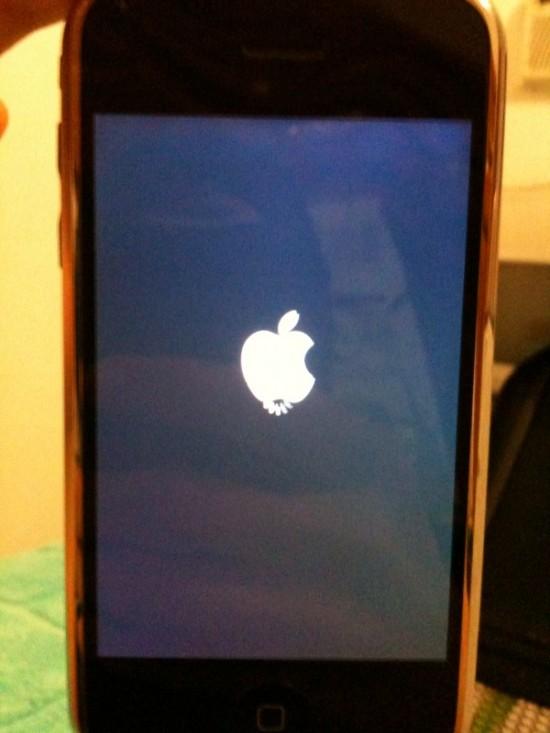 iPhone FAIL maçã rodinha