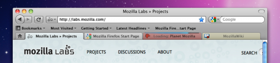 Deixando a barra de abas semelhante à do Windows e aplicando-lhe uma cor para corresponder ao estilo da página