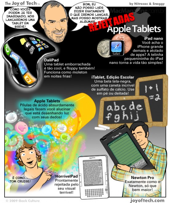 Joy of Tech: Apple Tablets rejeitadas