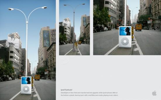 Poste de luz iPod NYC