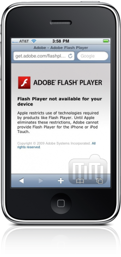Adobe Flash Player no iPhone