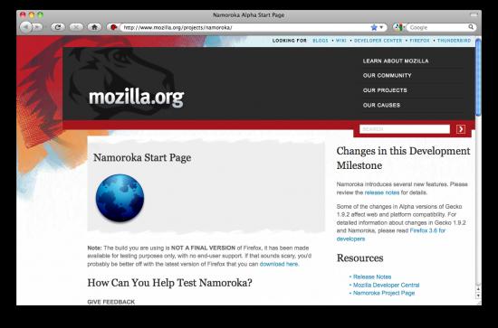 Namoroka (Firefox 3.6)