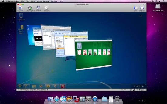 O VMWare Fusion 3 suportará o Windows Aero com Flip 3D