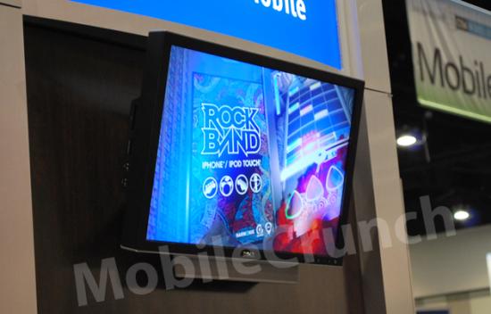 Tela com info. sobre Rock Band para iPhones/iPods touch