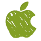 "Logo da Apple ""verde"""
