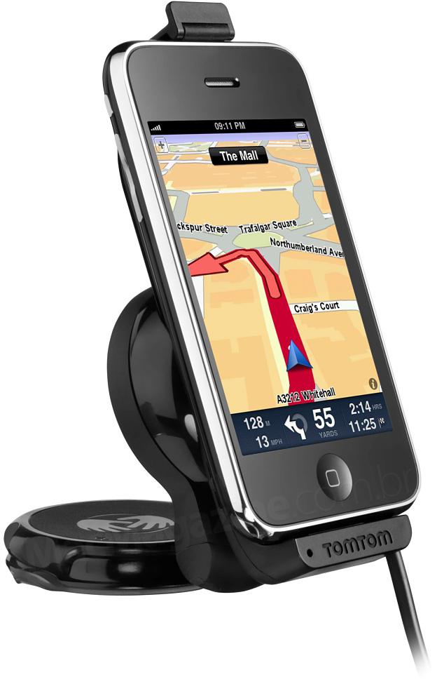 TomTom Car Kit para iPhone em pé