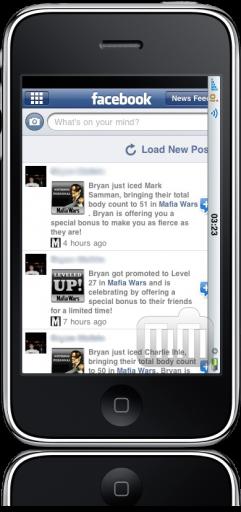 iPod touch FAIL Facebook deslocado