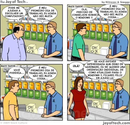 Joy of Tech - O cliente nem sempre esta certo