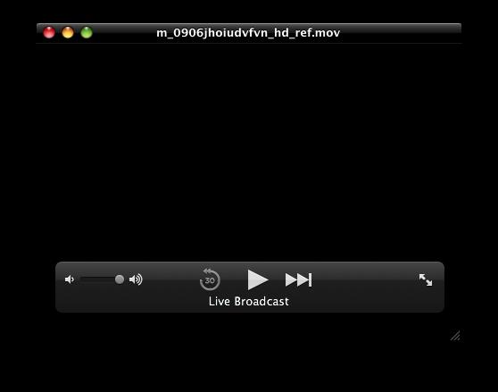 Streaming através do QuickTime X
