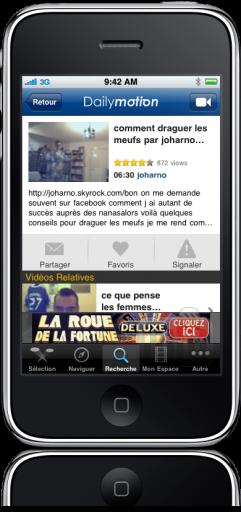 Dailymotion para iPhone