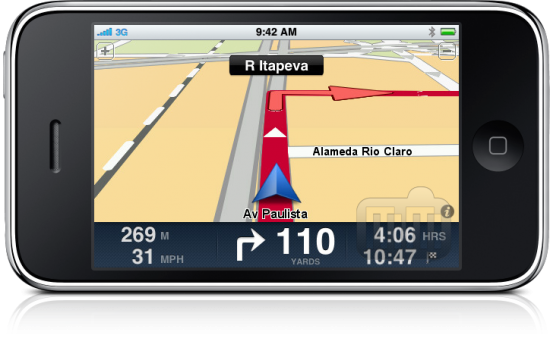 TomTom Brazil no iPhone