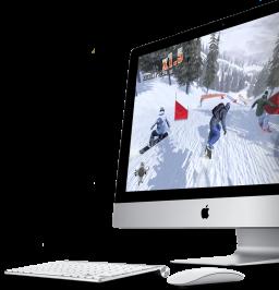 iMac com teclado e Magic Mouse