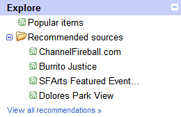 Google Reader Explore