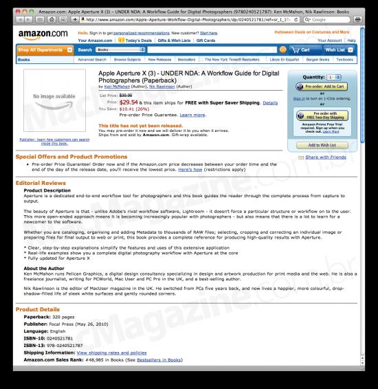 Aperture X no Amazon.com