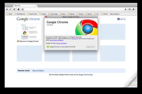 Chrome para Mac (4.0.223.8)