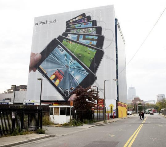 Propaganda do iPod em Boston