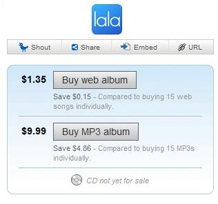 Compra de música no Lala