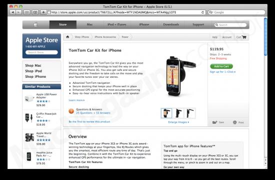 TomTom Car Kit na Apple Online Store