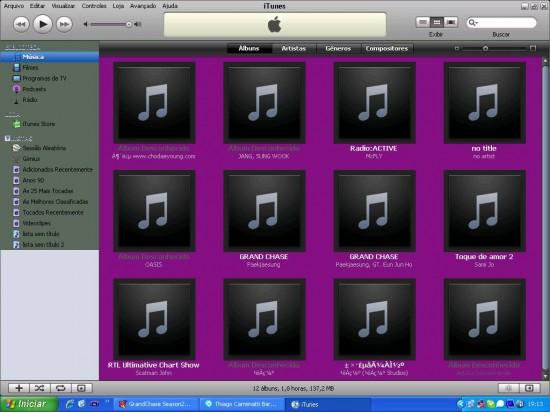 iTunes FAIL roxo
