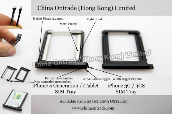 iPhone 4G SIM tray