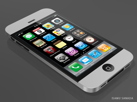 Mockup de iPhone 4G unibody (por Isamu Sanada)