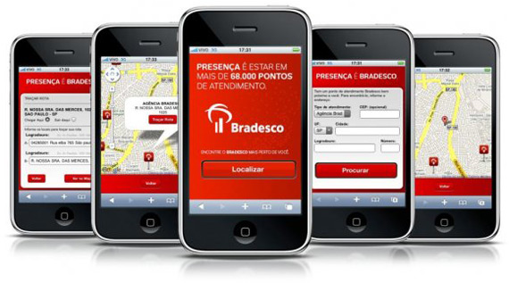 Site móvel do Bradesco
