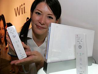 Garota com Nintendo Wii