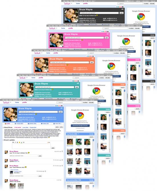 Cores no novo Orkut