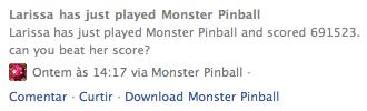 Monster Pinball no Facebook
