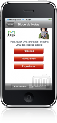 Fórum ANER no iPhone