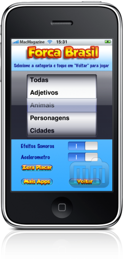 Forca Brasil no iPhone