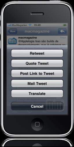 Retweet no Tweetie 2.0