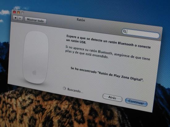 Janela de configuração no novo iMac