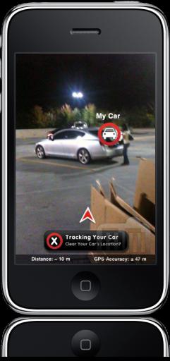 Car Finder no iPhone