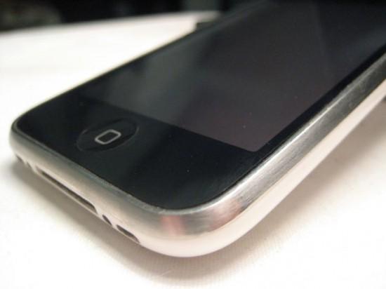 iPhone brushed bezel
