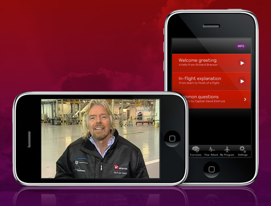 Flying Without Fear para iPhone, da Virgin Atlantic