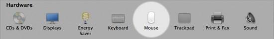 Magic Mouse no Painel