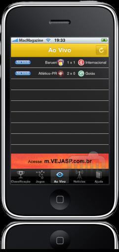 Brasileirão Placar no iPhone