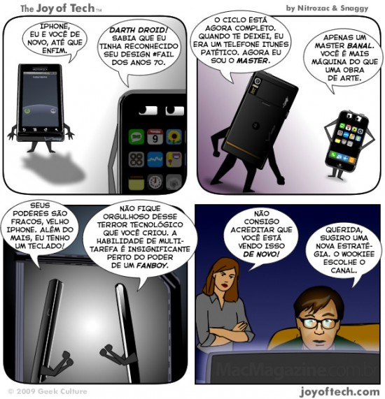 Joy of Tech: Darth Droid encontra-se com iPhonie-wan