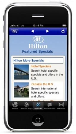 App do Hilton para iPhone