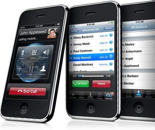 iPhones caindo de lado
