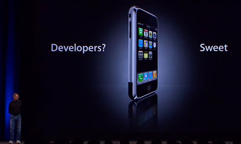 iPhone developers - Steve Jobs