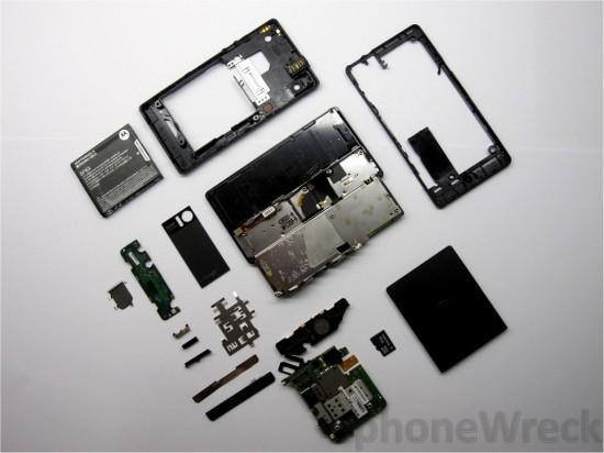 Motorola DROID desmontado